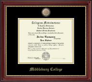 Brass Masterpiece Medallion Diploma Frame in Kensington Gold