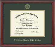 Gold Embossed Diploma Frame in Signature