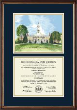 Litho Diploma Frame in Williamsburg