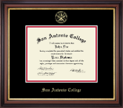 Gold Embossed Diploma Frame in Regency Gold