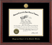 23K Medallion Edition Certificate Frame in Signature