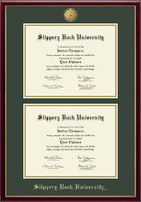 23K Medallion Double Diploma Frame in Galleria