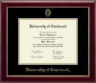 University Of Cincinnati Diploma Frames Church Hill Classics
