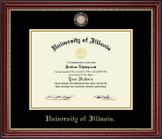 Brass Masterpiece Medallion Diploma Frame in Kensington Gold
