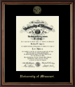 Gold Embossed Diploma Frame in Williamsburg