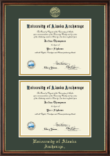 Gold Embossed Double Diploma Frame in Williamsburg