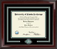 Pewter Spirit Medallion Diploma Frame in Encore