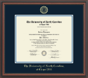 Gold Embossed Diploma Frame in Regency