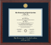 23K Medallion Diploma Frame in Signature