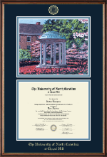 Campus Scene Diploma Frame in Williamsburg