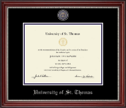 Pewter Masterpiece Medallion Diploma Frame in Kensington Silver