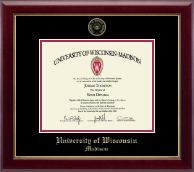 Gold Embossed Diploma Frame in Gallery