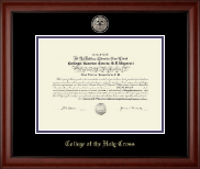 Black Enamel Masterpiece Medallion Diploma Frame in Cambridge