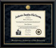 23K Medallion Diploma Frame in Onyx Gold