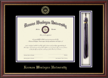 Kansas Wesleyan University Tassel Edition Diploma Frame in Newport