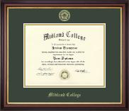 Midland College Gold Embossed Diploma Frame in Regency Gold