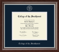 Silver Embossed Diploma Frame in Devonshire