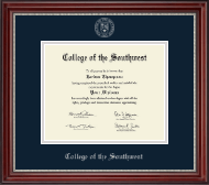 Silver Embossed Diploma Frame in Kensington Silver