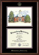 Bloomsburg University Lithograph Diploma Frame in Williamsburg