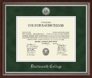 Silver Engraved Medallion Diploma Frame in Devonshire