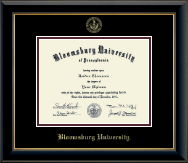 Bloomsburg University Gold Embossed Diploma Frame in Onyx Gold