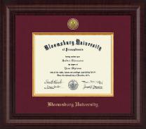 Bloomsburg University Presidential Gold Engraved Diploma Frame in Premier