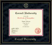 Gold Embossed Certificate Frame in Onexa Gold