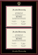Arcadia University Double Diploma Frame in Galleria