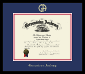 Gold Embossed Diploma Frame in Metro