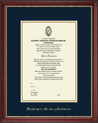 Embossed Diploma Frame in Kensington Gold