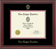Embossed Certificate Frame in Signature