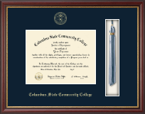 Columbus State Community College Tassel Edition Diploma Frame in Newport