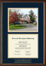 Covenant Theological Seminary Campus Scene Diploma Frame in Williamsburg