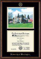 Campus Scene Edition Diploma Frame in Williamsburg