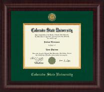 Colorado State University Presidential Gold Engraved Diploma Frame in Premier