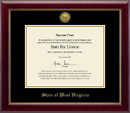 Gold Engraved Medallion Certificate Frame in Gallery