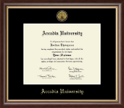 Arcadia University Gold Engraved Medallion Diploma Frame in Hampshire