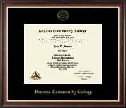 Broome Community College Gold Embossed Diploma Frame in Studio Gold