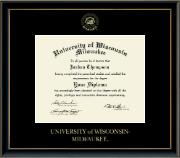 Gold Embossed Diploma Frame in Onexa Gold