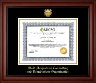 Gold Engraved Medallion Certificate Frame in Cambridge