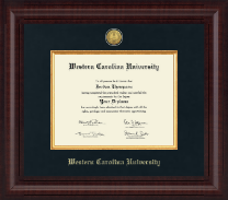 Western Carolina University Presidential Gold Engraved Diploma Frame in Premier