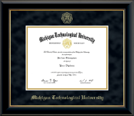 Gold Embossed Diploma Frame in Onyx Gold