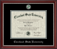 Masterpiece Medallion Diploma Frame in Kensington Silver