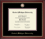 Central Michigan University Masterpiece Medallion Diploma Frame in Kensington Gold