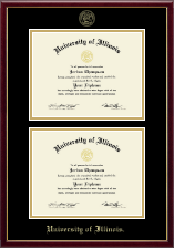 Gold Embossed Double Diploma Frame in Galleria