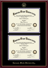 Kansas State University Double Diploma Frame in Galleria
