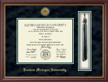 Gold Engraved Medallion Tassel Diploma Frame in Newport