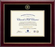 Gold Embossed Summa Cum Laude Diploma Frame in Gallery