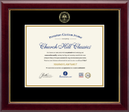 Gold Embossed Cum Laude Diploma Frame in Gallery