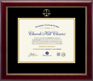 Embossed Law Certificate Frame in Gallery